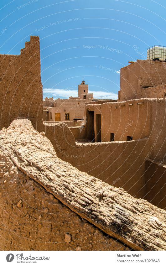 Marokko Ferien & Urlaub & Reisen Haus Wolkenloser Himmel Afrika Moschee Lehm
