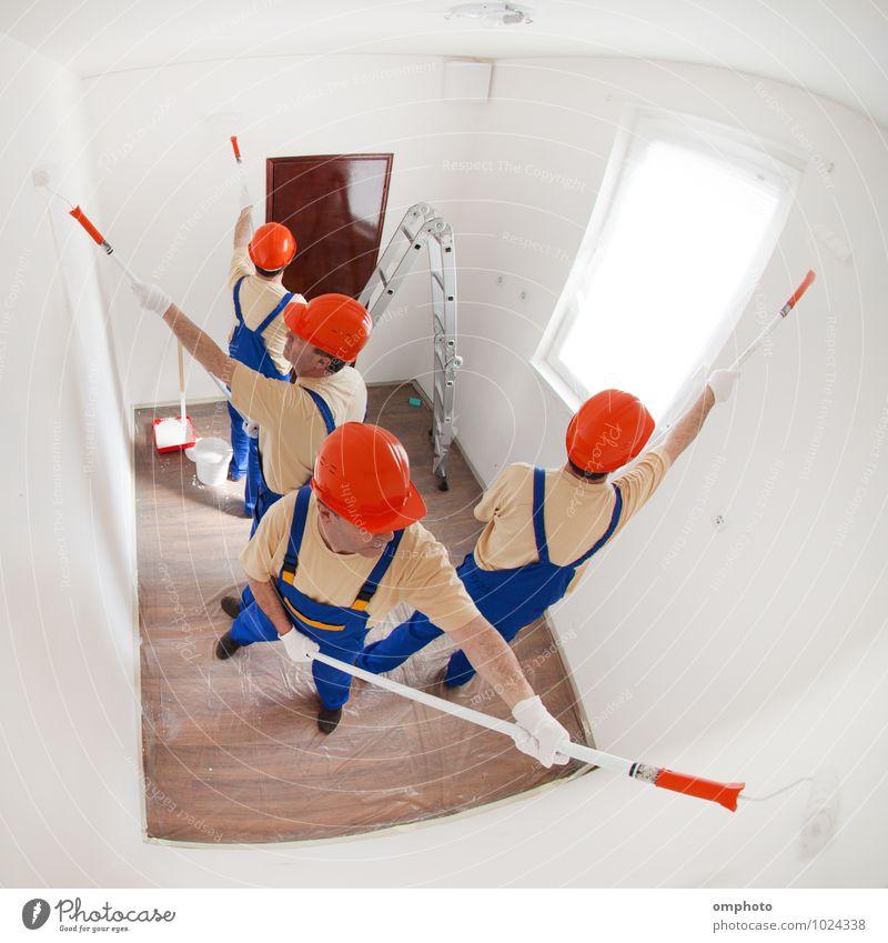 Mensch Mann Haus Erwachsene Arbeit & Erwerbstätigkeit Design T-Shirt Leiter Mitarbeiter industriell heimwärts Reparatur Handschuhe Verbesserung Nylon Tablett