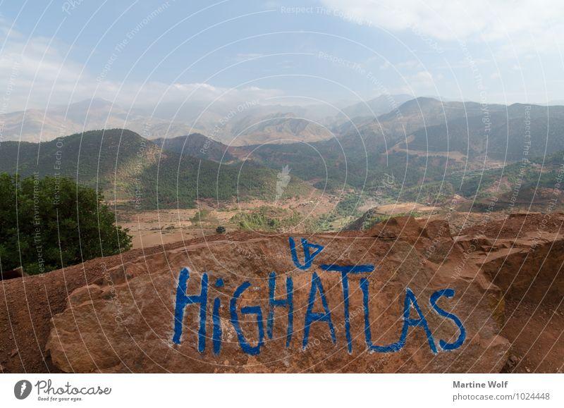 HIGH ATLAS II Natur Landschaft Berge u. Gebirge Atlas Marokko Afrika Ferien & Urlaub & Reisen Ferne Tizi n'Tichka Pass Farbfoto Außenaufnahme Menschenleer