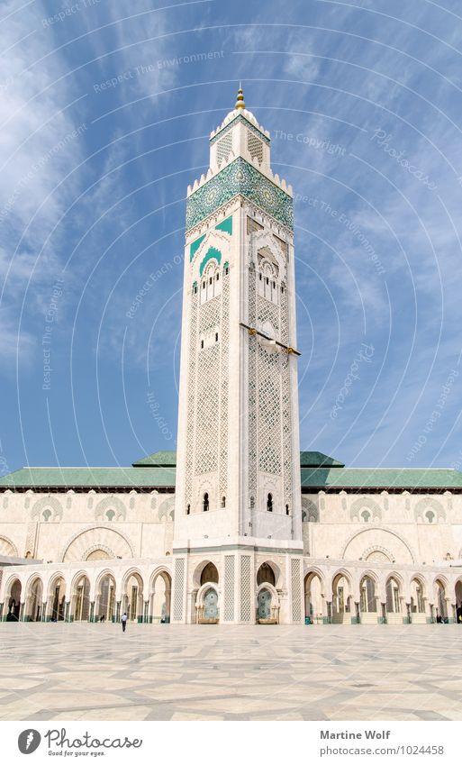 Hassan II Casablanca Marokko Afrika Stadt Hafenstadt Platz Bauwerk Gebäude Architektur Moschee Ferien & Urlaub & Reisen Religion & Glaube Moschee Hassan II.