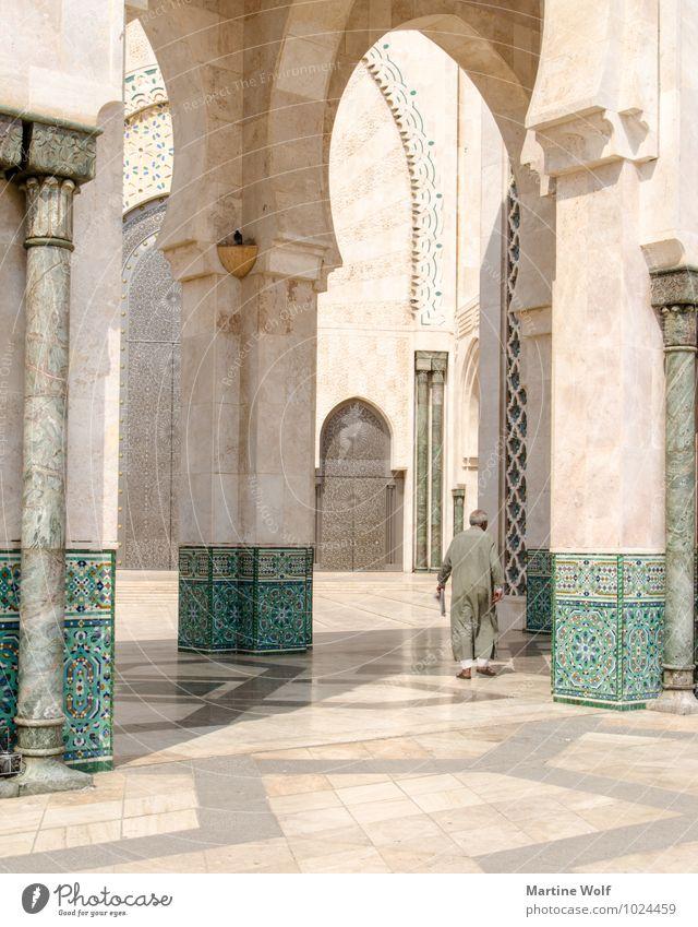 Hassan II? Mensch maskulin Mann Erwachsene Männlicher Senior 1 Casablanca Marokko Afrika Stadt Hafenstadt Moschee Religion & Glaube Moschee Hassan II.
