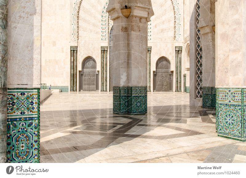 perfekte Architektur Casablanca Marokko Afrika Stadt Hafenstadt Bauwerk Gebäude Moschee Sehenswürdigkeit ästhetisch Ferien & Urlaub & Reisen Moschee Hassan II.