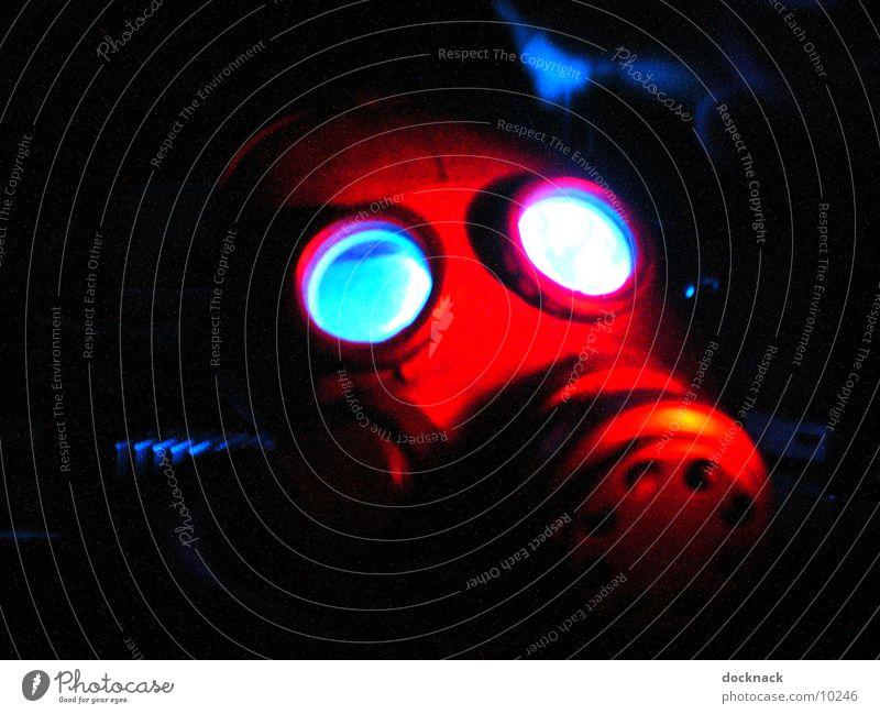 Gasmaske Atemschutzmaske dunkel Dinge Maske Angst Lampe