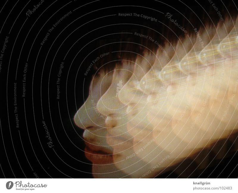 Moving Beauty Frau schön schwarz dunkel Bewegung Kopf Haut Nase Lippen 8 Symbole & Metaphern