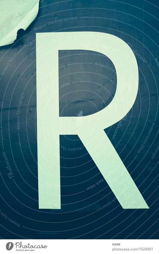Retro   mit R weiß schwarz Stil Lifestyle Arbeit & Erwerbstätigkeit Design groß Ecke einfach Vergänglichkeit kaputt retro Buchstaben graphisch Typographie