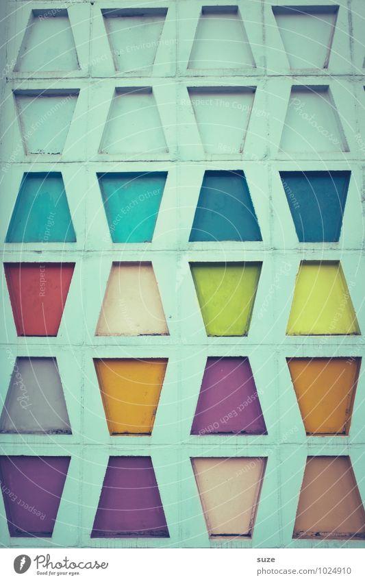 Chronische Türkisschwachheit (morbus cyancoloritis) Farbe Wand Architektur Stil Gebäude Mauer außergewöhnlich Kunst Fassade Ordnung Design