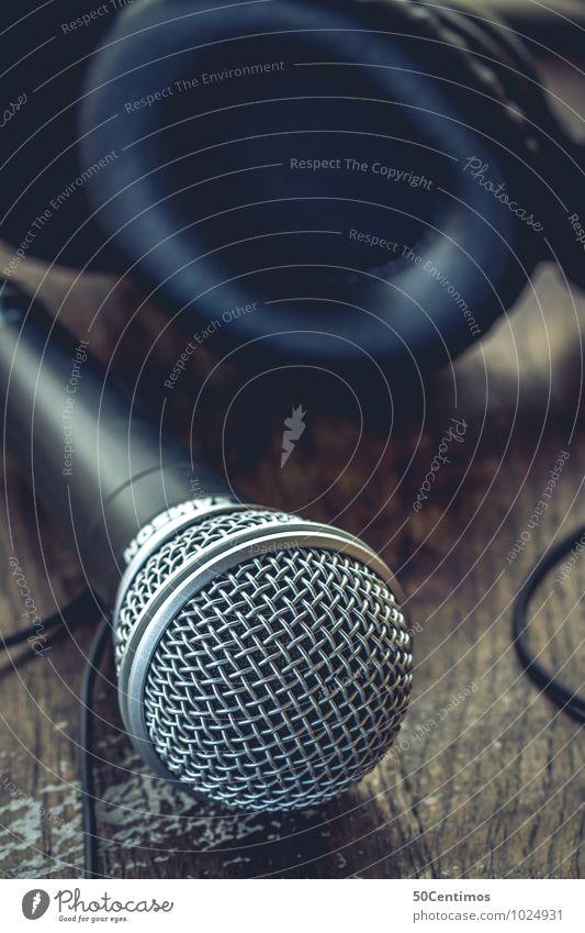 DJ - Party - Microphone blau braun Lifestyle elegant Musik Veranstaltung Club Kopfhörer Disco Nachtleben Mikrofon Entertainment Diskjockey Lounge Headset