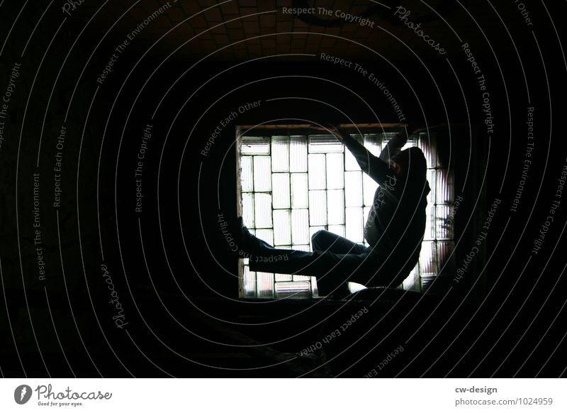 Licht & Schatten Lifestyle elegant Stil Freude Wohnung Nachtleben Mensch maskulin Junger Mann Jugendliche Erwachsene Leben 1 18-30 Jahre 30-45 Jahre festhalten