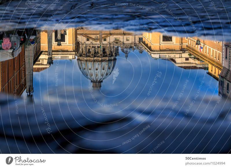 Reflection the Vatican Ferien & Urlaub & Reisen Tourismus Ausflug Sightseeing Städtereise Sommerurlaub Wasser Schönes Wetter Rom Italien Hauptstadt Dom Palast