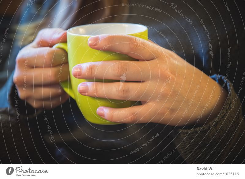 Frostige Tage ~ selbstgemacht Erholung Hand ruhig Winter Gesunde Ernährung Leben feminin Gesundheit Stimmung Gesundheitswesen Getränk Finger Pause trinken