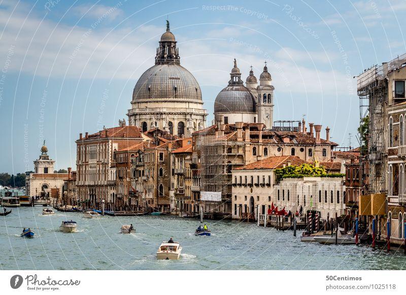 Kathedrale von Santa Maria della Salute Mensch Himmel Ferien & Urlaub & Reisen Stadt Sommer Meer ruhig Haus Häusliches Leben Tourismus Ausflug Kirche