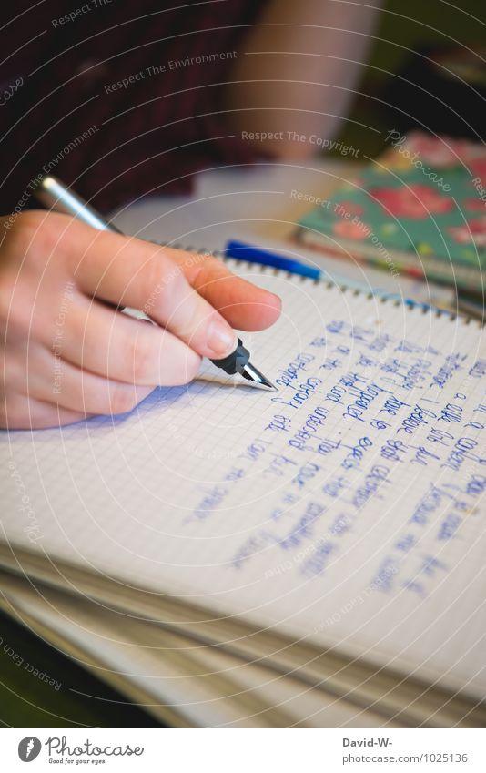 Hausaufgaben | selbstgemacht Mensch Frau Kind Jugendliche Junge Frau Hand Erwachsene feminin natürlich Schule Freizeit & Hobby 13-18 Jahre Erfolg Studium lernen