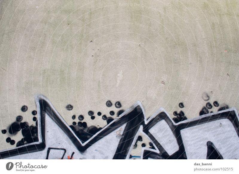 Kunst oder Schmiererei? Tagger Verbote beschmutzen verunstalten Wand Fassade Putz Lösungsmittel grau weiß schwarz Design Stadt Kultur Lifestyle Gefühle