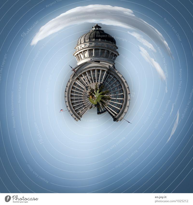 Weltmacht Ferien & Urlaub & Reisen blau Architektur Gebäude außergewöhnlich träumen Tourismus rund Turm Sicherheit historisch Bauwerk Sehenswürdigkeit
