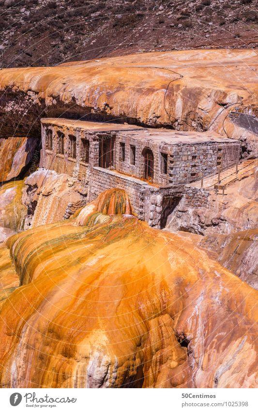Puente de Incas Ferien & Urlaub & Reisen alt Landschaft Ferne Berge u. Gebirge gelb außergewöhnlich braun Felsen Tourismus wandern gold ästhetisch Ausflug