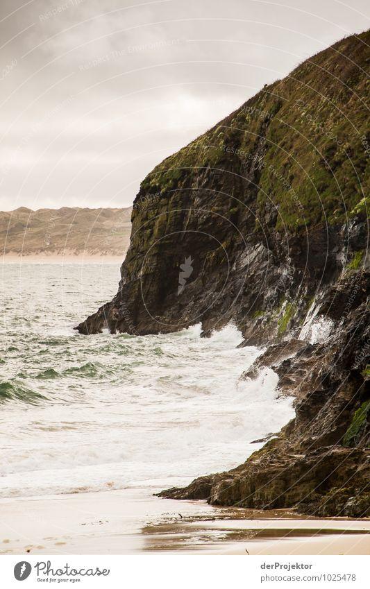 ...und dann kommt die Flut Natur Ferien & Urlaub & Reisen Pflanze Landschaft Wolken Strand Ferne Umwelt Gefühle Küste Frühling Freiheit Felsen Kraft Wellen