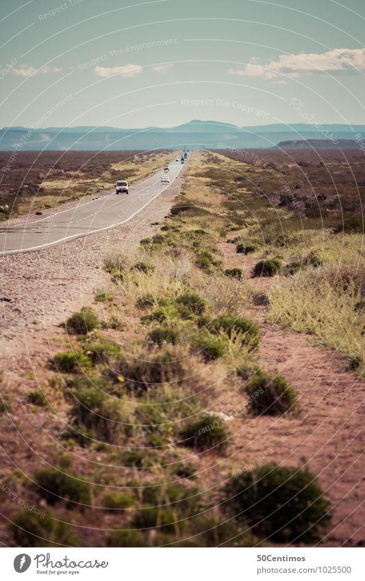 Road Trip Natur Ferien & Urlaub & Reisen Sommer ruhig Wolken Ferne Berge u. Gebirge Straße Zeit Freiheit Schönes Wetter Abenteuer trocken Wüste Autobahn Argentinien