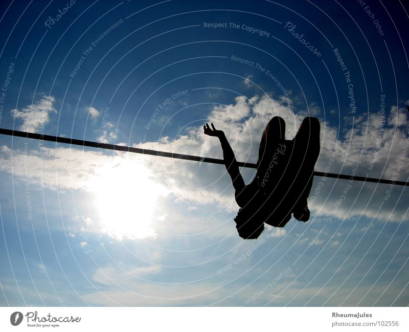 just fly Himmel Sonne Sport Spielen fliegen Freizeit & Hobby Leichtigkeit Leichtathletik Hochsprung