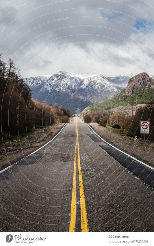 Ruta 40 - Streets of Patagonia Natur Ferien & Urlaub & Reisen Erholung ruhig Wolken Ferne Winter Berge u. Gebirge Umwelt Straße Frühling Freiheit Eis Schneefall