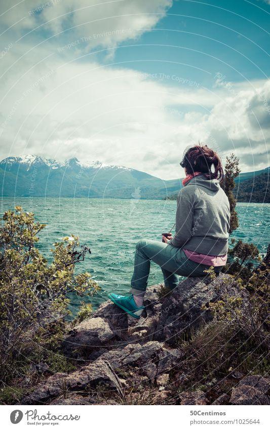 Exploring Argentina Mensch Frau Ferien & Urlaub & Reisen Jugendliche Pflanze Junge Frau Meer Landschaft ruhig Wolken 18-30 Jahre Ferne Winter Erwachsene
