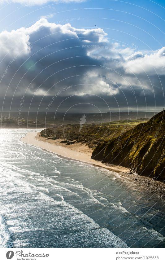 Ein Tag am Meer in Cornwall Natur Ferien & Urlaub & Reisen Pflanze Meer Landschaft Wolken Strand Ferne Umwelt Gefühle Küste Glück Freiheit Stimmung Freizeit & Hobby Wellen