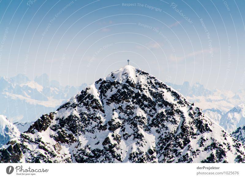 Den nächsten Gipfel fest im Blick *600* Ferien & Urlaub & Reisen Tourismus Ausflug Abenteuer Ferne Freiheit Winter Schnee Winterurlaub Berge u. Gebirge Umwelt