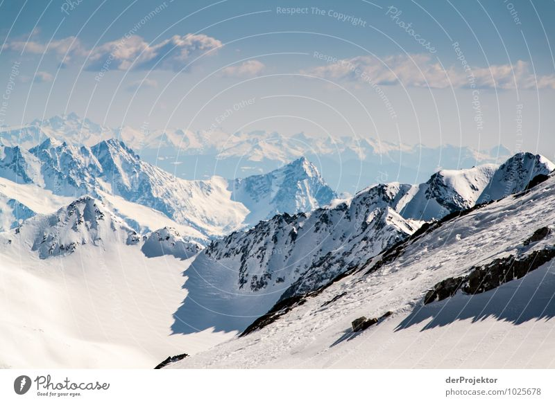 Man kann fast bis zum Meer schauen Natur Ferien & Urlaub & Reisen Pflanze Landschaft Tier Ferne Winter Berge u. Gebirge Umwelt Gefühle Schnee Freiheit Felsen Tourismus Zufriedenheit Eis