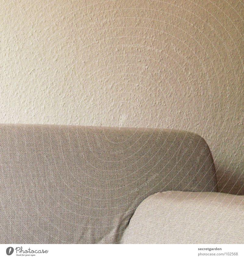 sofa ohne lümmler weiß ruhig Erholung Wand grau Design Rücken Coolness Fernsehen Häusliches Leben Sofa Innenarchitektur Stoff Tapete Falte Möbel