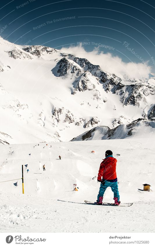 Gleich gehts los... Mensch Natur Ferien & Urlaub & Reisen Jugendliche Landschaft Ferne Winter 18-30 Jahre Berge u. Gebirge Erwachsene Umwelt Gefühle Schnee