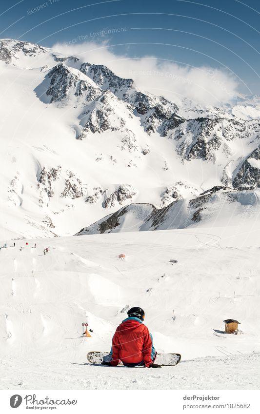 Nur keine Angst Mensch Natur Ferien & Urlaub & Reisen Jugendliche Landschaft ruhig Winter 18-30 Jahre Berge u. Gebirge Erwachsene Umwelt Leben Gefühle Schnee
