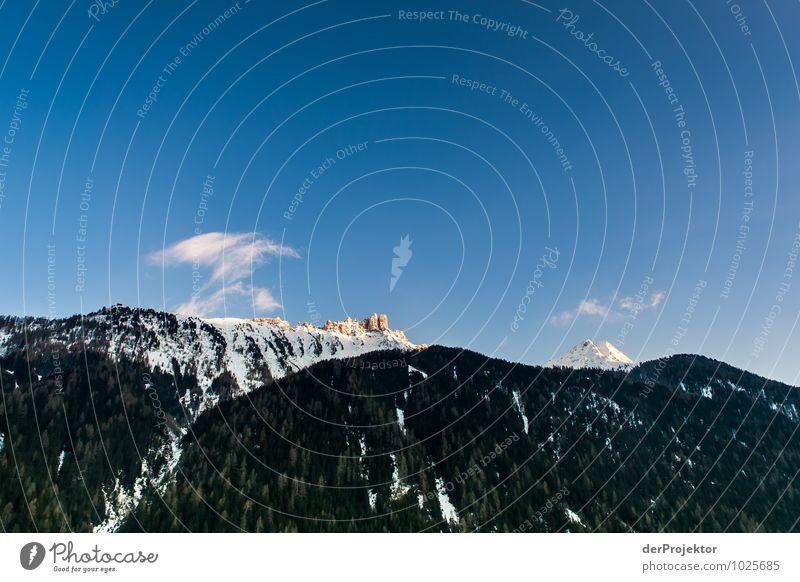 Sonneaufgang im Stubaital Freizeit & Hobby Ferien & Urlaub & Reisen Tourismus Ausflug Ferne Freiheit Schnee Winterurlaub Berge u. Gebirge Umwelt Natur