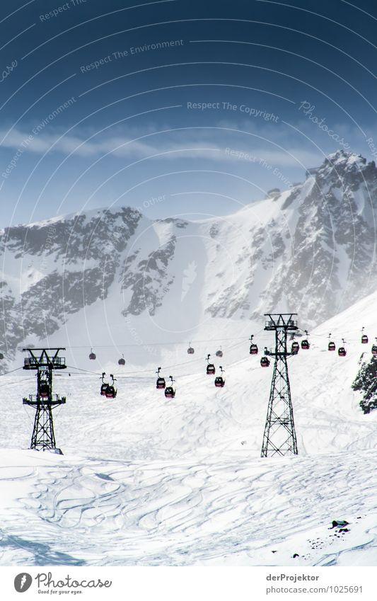 Entspannt zum Gipfel Ferien & Urlaub & Reisen Tourismus Ferne Winter Schnee Winterurlaub Berge u. Gebirge Sport Skifahren Sportstätten Skipiste Umwelt Natur