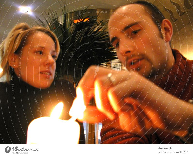 candellight Mensch Paar Kerze