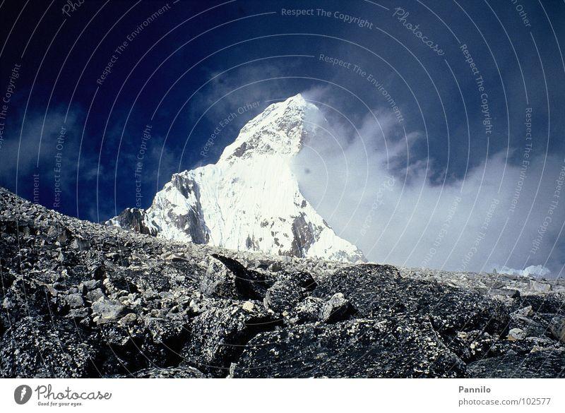 Der Berg schön Wolken Berge u. Gebirge Stein Landschaft Nepal