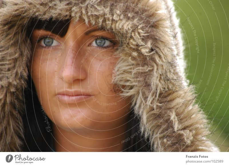 ungewiss Frau Mensch schön Gesicht Hoffnung Trauer Frieden Vertrauen Porträt