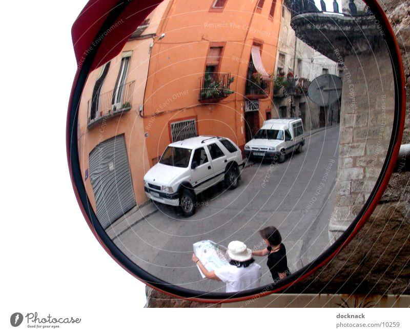entdeckt Mensch Verkehr Spiegel Spanien Orientierung