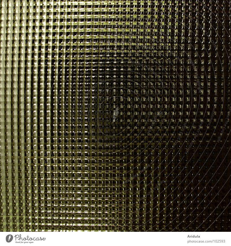 scheibenspiel Durchblick durchsichtig brechen Lichtbrechung dunkel Muster Quadrat graphisch Detailaufnahme Glas Tür Grafik u. Illustration