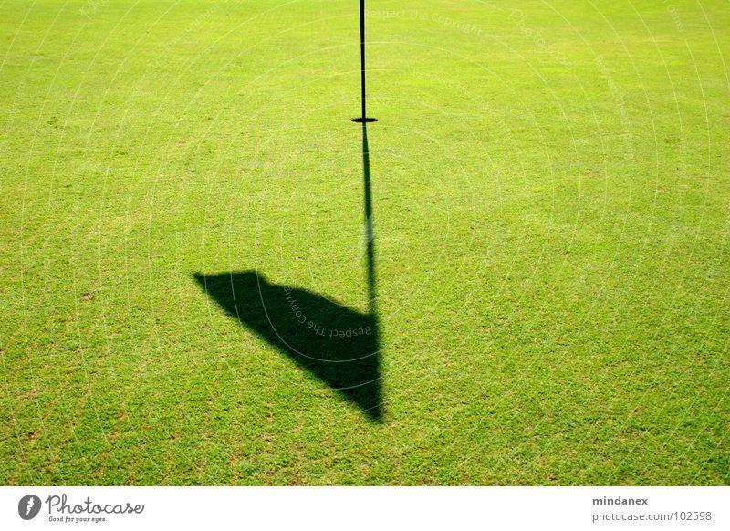 Putt Putt Putt Putt... grün Fahne Gras Spielen Golf Schattenfahne Golfplatz
