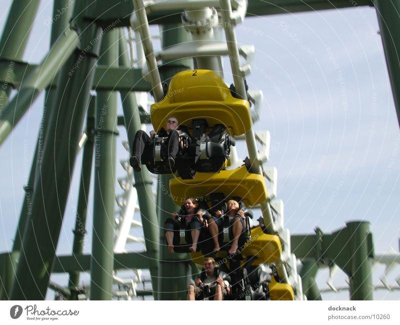 no limit Vergnügungspark Achterbahn Geschwindigkeit Elektrisches Gerät Technik & Technologie Mensch Heide Park
