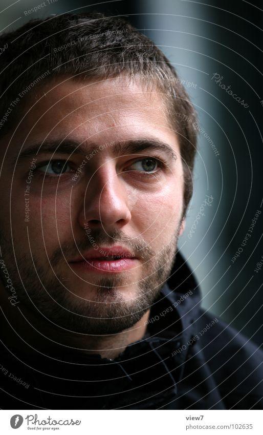 Herr Molinski Mann Gesicht Auge dunkel Haare & Frisuren Denken Mund maskulin Nase Müdigkeit Bart Seite Gesichtsausdruck seltsam fertig Porträt