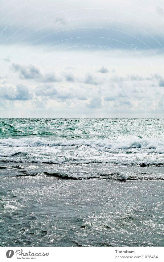 WuW. Himmel Natur blau grün Wasser Wolken Umwelt Gefühle natürlich grau Horizont Wellen ästhetisch Schönes Wetter Urelemente Nordsee