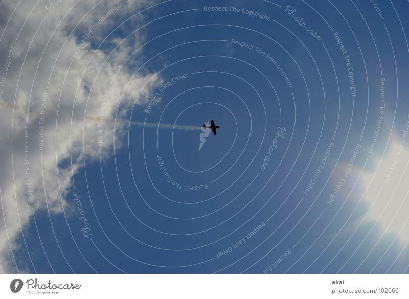 Flugtag 2 Himmel blau Freude Wolken Flugzeug Aktion Luftverkehr Flügel Veranstaltung Rauch Flughafen Sportveranstaltung Klang Jubiläum krumm Armee