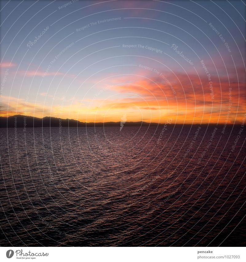 same place. same time. Himmel Natur schön Wasser Landschaft Wolken Winter Berge u. Gebirge Leben Küste See Stimmung Horizont Wellen genießen Romantik