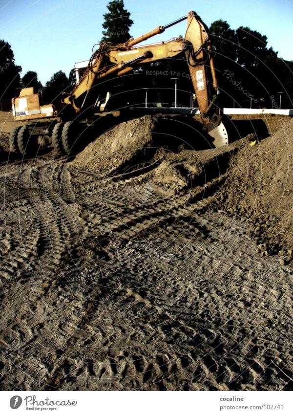 Baggertime Arbeit & Erwerbstätigkeit Sand Baustelle Spuren Handwerk bauen Feierabend Reifenspuren