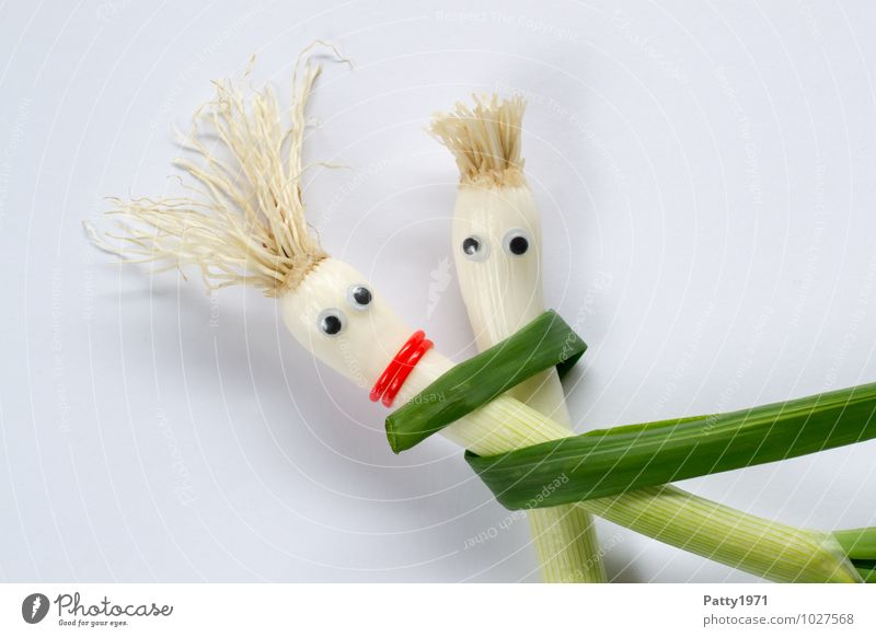 Umarmung Zusammensein festhalten Gemüse Geborgenheit Umarmen Zwiebel Schalotten
