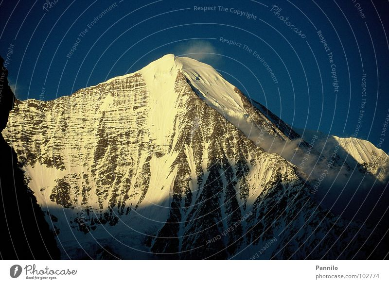 The day is coming schön ruhig Schnee Berge u. Gebirge Alaska