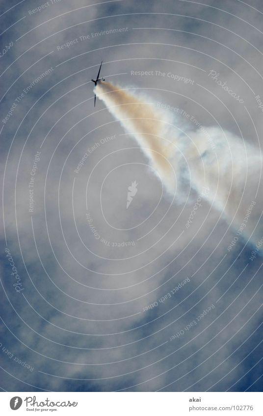 Flugtag 3 Himmel blau Freude Wolken Flugzeug Aktion Luftverkehr Flügel Veranstaltung Rauch Flughafen Sportveranstaltung Klang Jubiläum krumm Armee