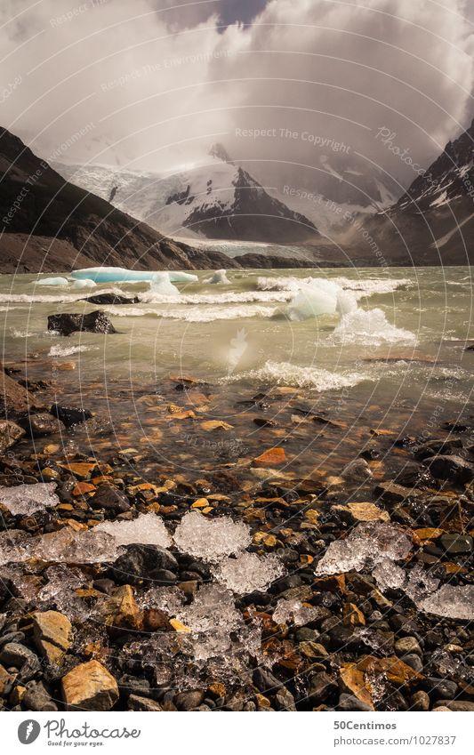 Gletschersee im tiefsten Patagonien, Argentinien Natur Ferien & Urlaub & Reisen Landschaft Wolken Winter Berge u. Gebirge Umwelt Herbst Schnee Freiheit See