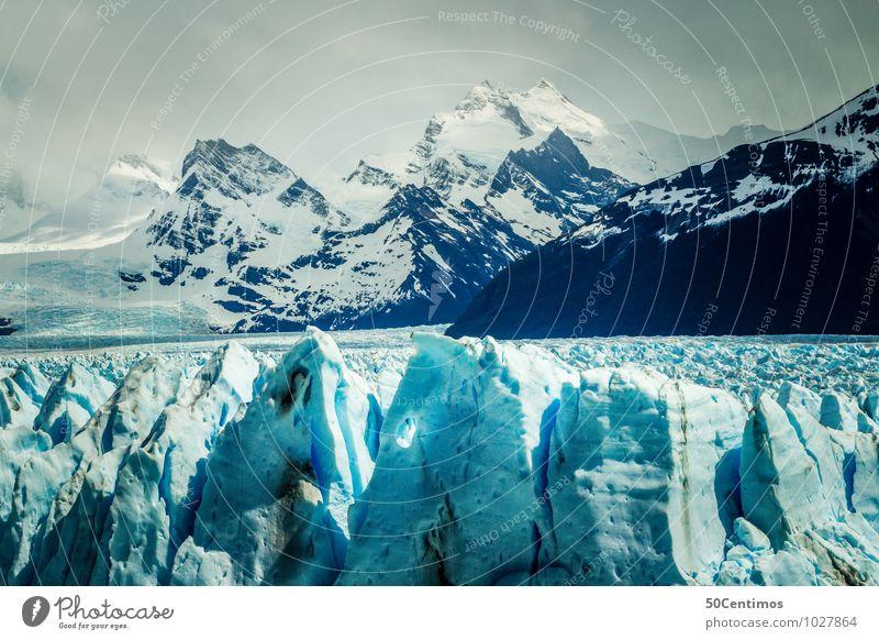 Der Gletscher Argentiniens Freizeit & Hobby Ferien & Urlaub & Reisen Tourismus Ausflug Abenteuer Ferne Freiheit Winter Schnee Winterurlaub Umwelt Natur