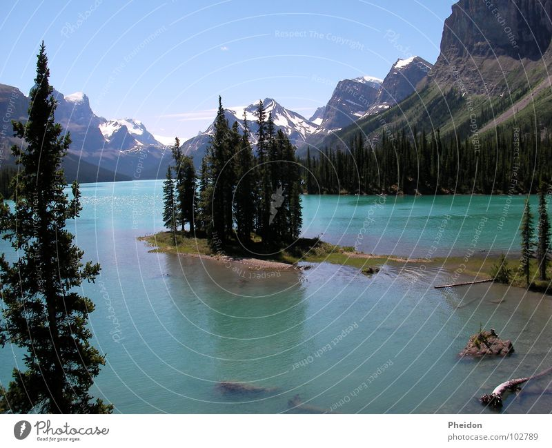 Spirit Island (AB, Canada) Natur Kanada Alberta Wald See Berge u. Gebirge